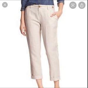Banana Republic linen cropped pants